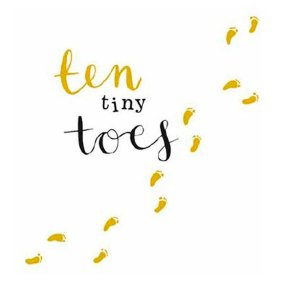 Ten Tiny Toes Baby Card