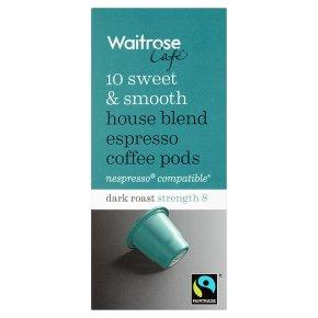 Waitrose Espresso Coffee Pods House Blend 10s