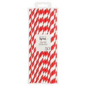 Waitrose Home Stripe Paper Straws