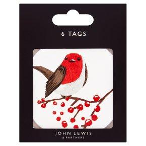 John Lewis Robin Gift Tags