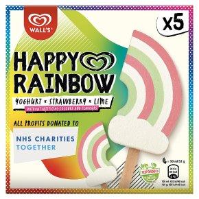 Wall's Happy Rainbow 5 Yoghurt Strawberry Lime Stick Ice Cream