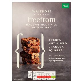 Waitrose Free From 4 Granola Squares