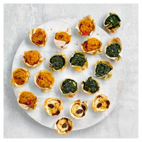 48 Vegetarian Filo Tartlets