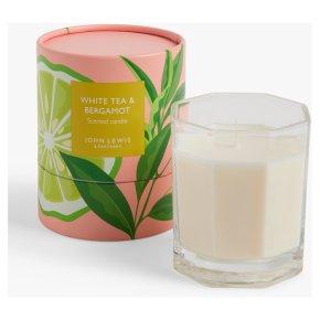John Lewis Candle Jar White Tea & Bergamot