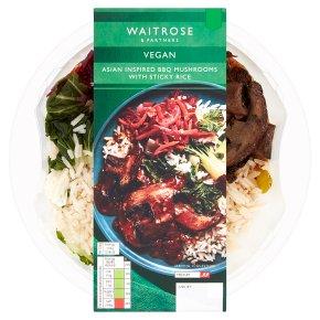 Waitrose Vegan BBQ Mushrooms with Sticky Rice