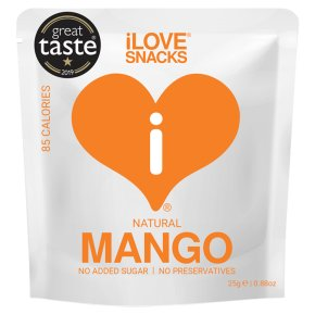 I Love Snacks Gently Dehydrated Mango