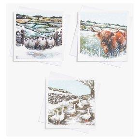 John Lewis Christmas Highland Cards