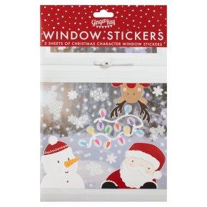 Ginger Ray Santa & Friends Window Stickers