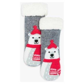 John Lewis Polar Bear Xmas Sock