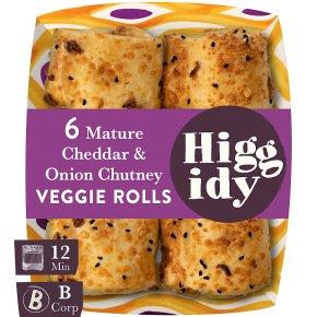 Higgidy Cheddar & Onion Chutney Veggie Rolls
