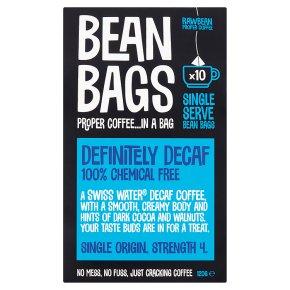 Bean Bags Definitely Decaf 10 Coffee Bean Bags