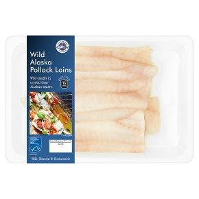 New England Seafood Wild Alaska Pollock Loins