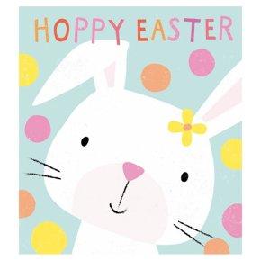 Hoppy Bunny Easter Card