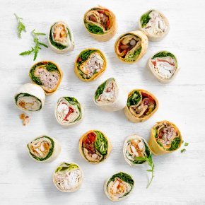 Mini Roulade Platter, 24 pieces