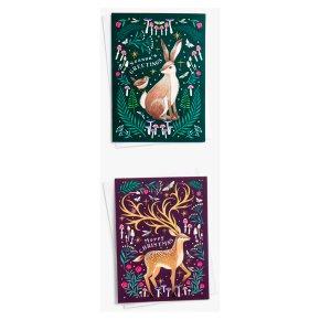John Lewis Christmas Stag & Rabbit Card