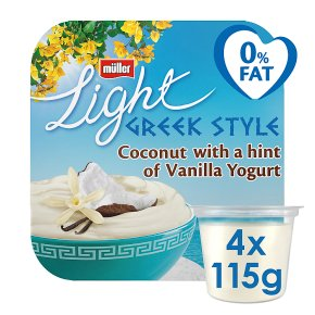 Müller Light Greek Style Yogurts Coconut with Vanilla