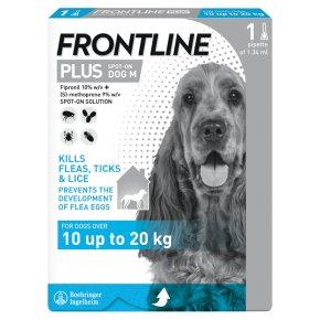 Frontline Plus Spot-On Dog Medium 10kg-20kg