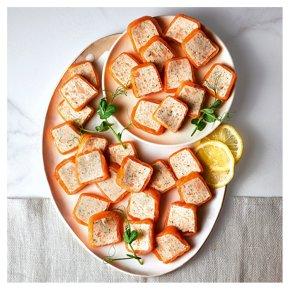 30 Smoked & Poached Salmon Canapés