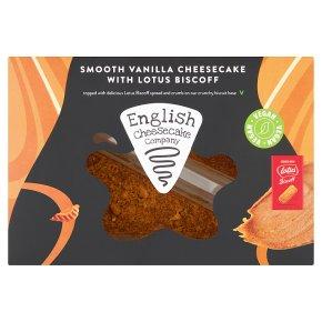 English Cheesecake Vanilla Cheesecake with Lotus Biscoff