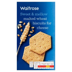 Waitrose Malted Wheat Biscuits for Cheese