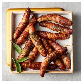 12 No.1 Free Range Pork Chipolatas wrapped in Bacon