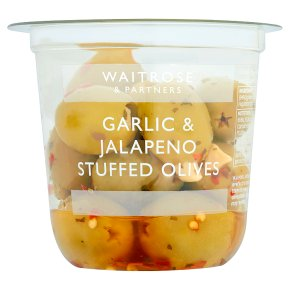 Waitrose Garlic & Jalapeño Stuffed Olives