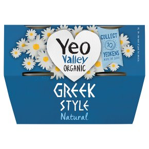 Yeo Valley Greek Style Natural Yogurts