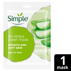 Simple De-Stress Sheet Mask