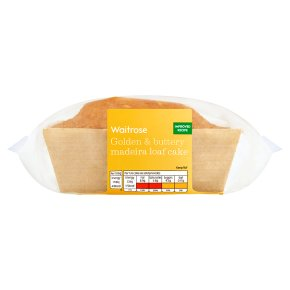 Waitrose Golden & Buttery Madeira Loaf Cake
