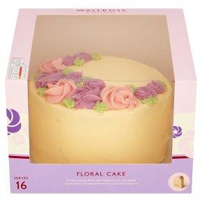 Waitrose Floral Celebration Cake