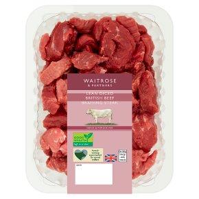 Waitrose Lean Diced British Beef Braising Steak