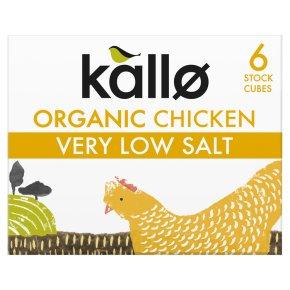 Kallo Organic Very Low Salt 6 Chicken Stock Cubes