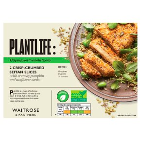 Waitrose Vegan 2 Crisp-Crumbed Seitan Slices