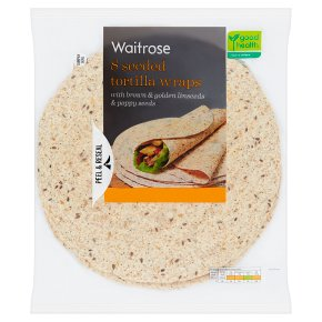 Waitrose 8 Seeded Tortilla Wraps