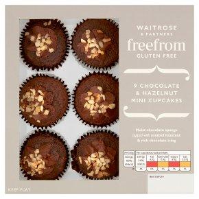 Waitrose Mini Choc & Hazelnut Cupcakes