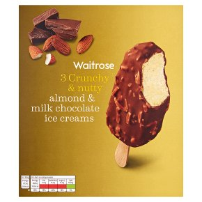 Waitrose Almond & Milk Chocolate Ice Creams