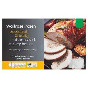 Waitrose Frozen Basted Turkey Breast with Pork Stuffing