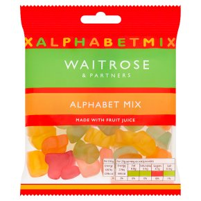 Waitrose Alphabet Mix