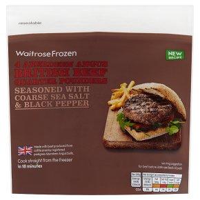 Waitrose Frozen 4 Aberdeen Angus Quarter Pounders