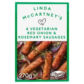 Linda McCartney's Frozen Red Onion & Rosemary Sausages
