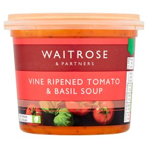 Waitrose Vine Ripened Tomato & Basil Soup