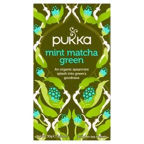 Pukka Mint Matcha Green 20 Green Tea Sachets