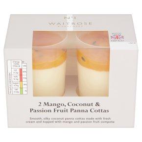Waitrose 2 Mango & Passion Fruit Panna Cotta