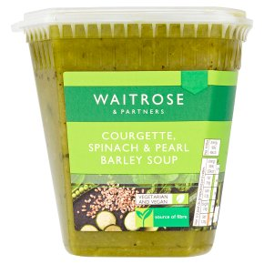 Waitrose Courgette, Spinach & Pearl Barley Soup