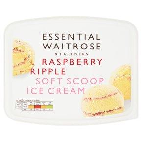 Essential Raspberry Ripple Soft Scoop Ice Cream