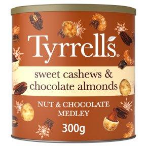 Tyrrell's Cashew & Almond Nut & Choc Medley