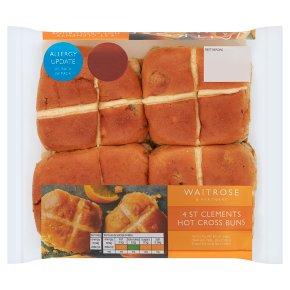 Waitrose St Clements Hot Cross Buns