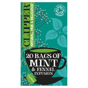 Clipper Organic Mint & Fennel 20 Infusion Bags