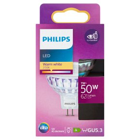 Philips LED White Spot clear 7w GU5.3
