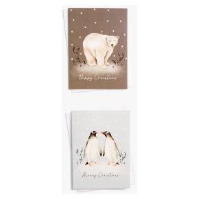 John Lewis Christmas Penguins Card